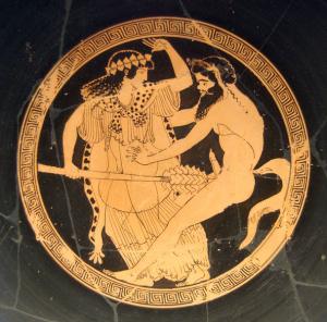 Satyr und Mänade