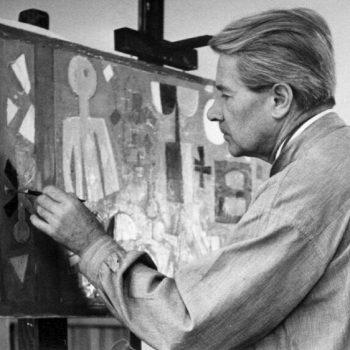 Fritz Griebel an der Staffelei, 1960er Jahre.